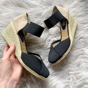 """Ralph Lauren """"Chari"""" Canvas Espadrille Wedge Heels"""